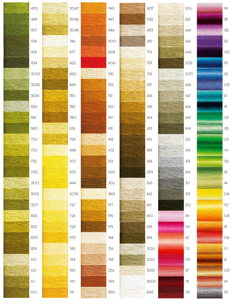 All in a cord what to bring it comes in many great colors you can download a color chart for the dmc size 3 thread here and nvjuhfo Images
