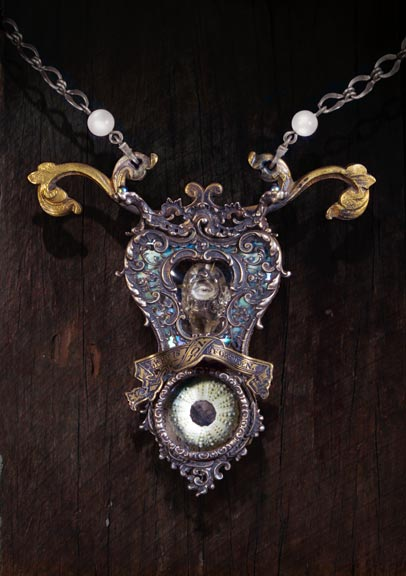 Keith E. Lo Bue - Jewelry :  necklace paper handmade jewelery vintage